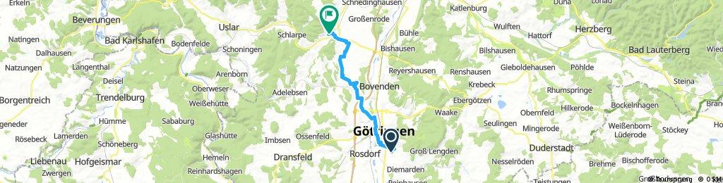 Göttingen-Geismar nach Hardegsen