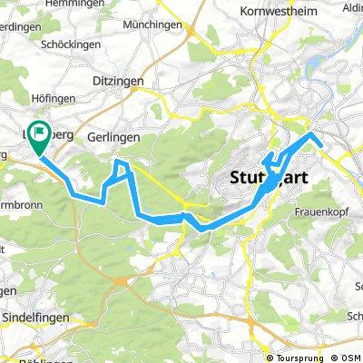 Leonberg - Stuttgart - Bad Cannstatt - Leonberg