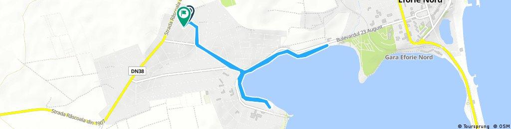 long bike tour through Techirghiol
