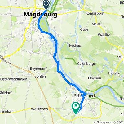 Elbe4, 3.Tag, Herrenkrug-Schönebeck Bad Salzelmen
