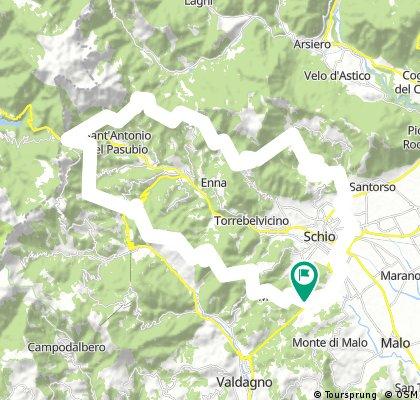 Long bike tour through Schio