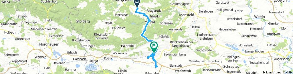 Meine letzte Tour zum Saison Ende 2017 in Meine Heimatstadt Sangerhausen Part 1