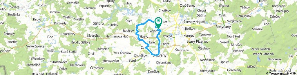 Lengthy bike tour through Vejprnice