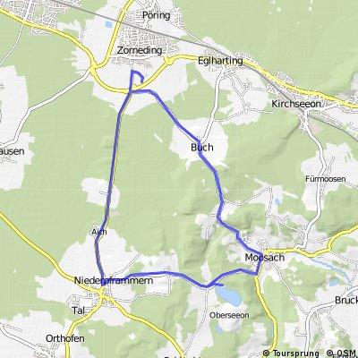 Strecke DAV-Triathlon Zorneding