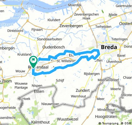 Long bike tour through Roosendaal
