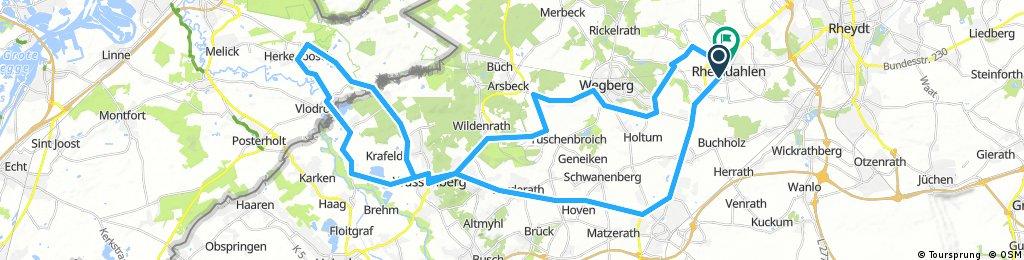 Rheindahlen-Niederland-Rheindahlen 65 km