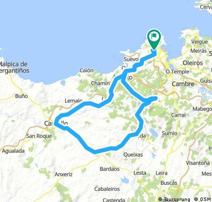Coruña-Ledoño-Cerceda-Silva-Carballo-Coruña