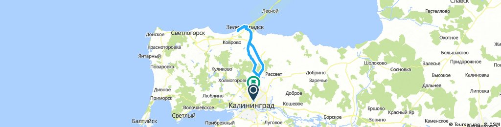 Long bike tour through Kaliningrad