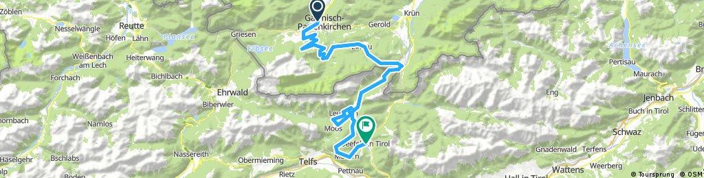 Lange Radrunde durch Seefeld in Tirol