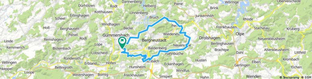 Gummersbach - Belmicke und  zurück