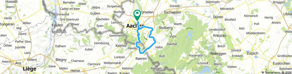 Aachen-Eynatten-Kornelimünster-Aachen