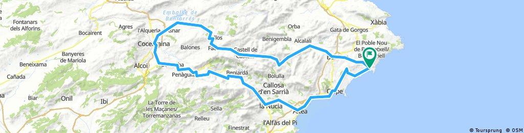 1 Moraira-Calp-Altea-Guadalest-Cocentanie-Tarbena-Xalo-Moraira