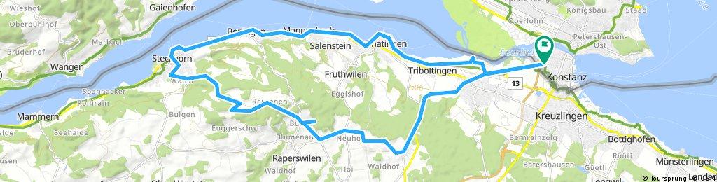 Lange Ausfahrt durch Konstanz