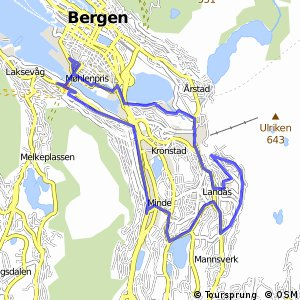 Cycling routes and bike maps in and around Bergen Bikemap Your