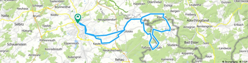 ADFC-Hof: Dreiländertour - Bayern, Sachsen, Böhmen