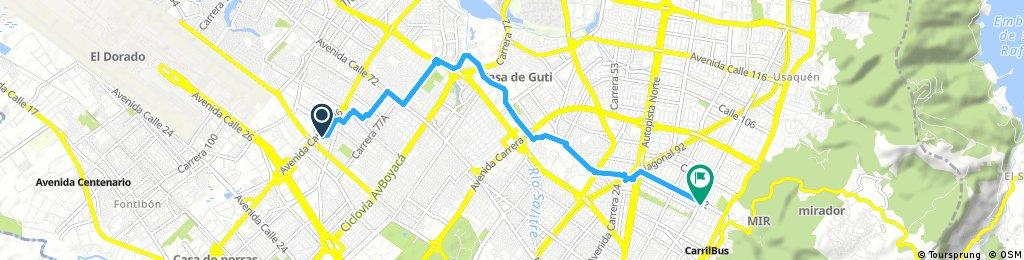 ride from 25 de septiembre 10:22 AM