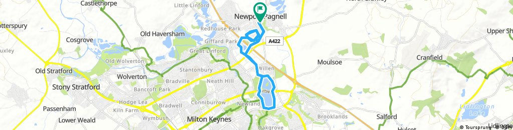 ride through Newport Pagnell