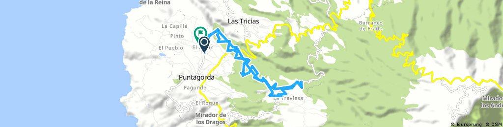 Ausfahrt durch Puntagorda