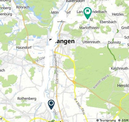 Von Stadeln nach Adlitz (Biergarten)