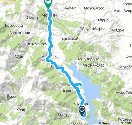 Lengthy bike tour through Mouzaki