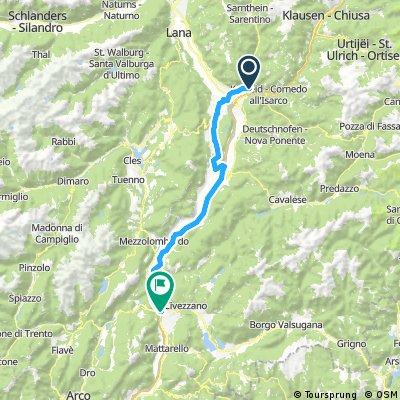 Bolzao to Trento Day 1 option 2