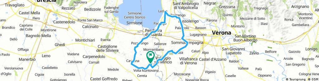 Cavriana-Peschiera-Lazise-Palazzolo-Valeggio 72 KM 530 hm