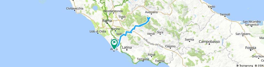 Rando 2018  (1^ parte 300Km) Nettuno-Capistrello-Nettuno