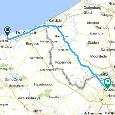 Day 1 - Dunkirk to Croix