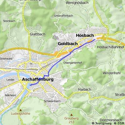 Aschaffenburg-Fasanerie-Hösbach & zurück