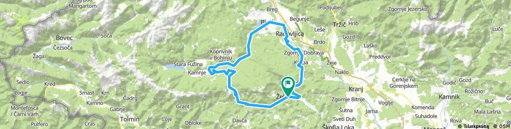 Železniki - Soriška planina - Bled - Jamnik