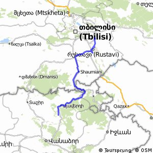 Cycling routes and bike maps in and around Rustavi Bikemap Your