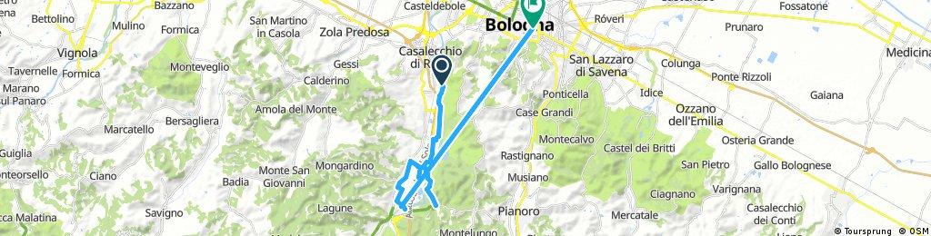bike tour through Bolognatoward saso marconi