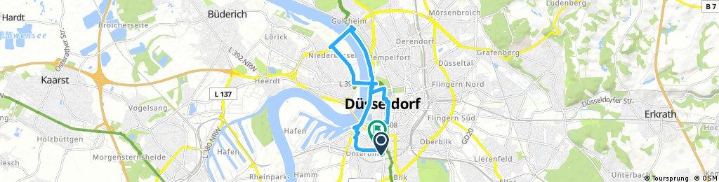 bike tour through Düsseldorf