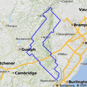 Cycling routes and bike maps in and around Guelph Bikemap Your
