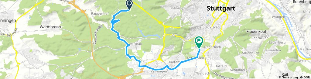 bike tour from Gerlingen to Stuttgart