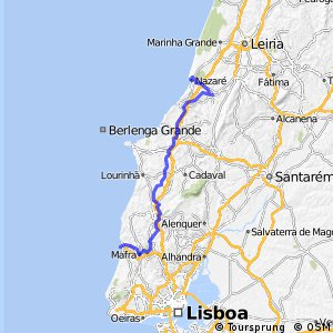 Cycling Routes And Bike Maps In And Around Ericeira Bikemap - Portugal map ericeira