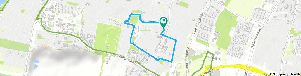 3 KM route