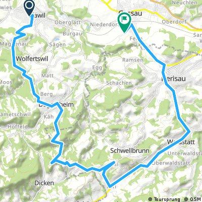 Bergli-Schwellbrunn-Herisau-Gossau Mult