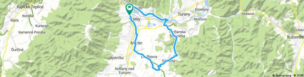 Long bike tour through District of Martin