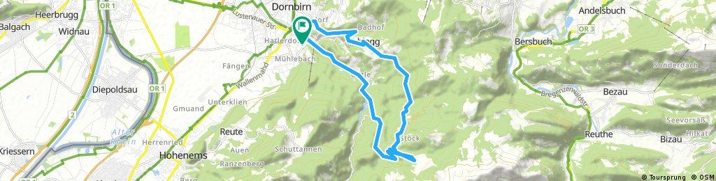 Dannerbruck-Steinebach-Rudach-Hasengerach-Kobel-Gütle-Dannerbruck