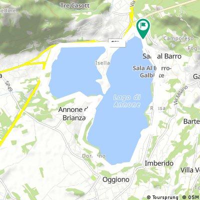 giro lago di Annone