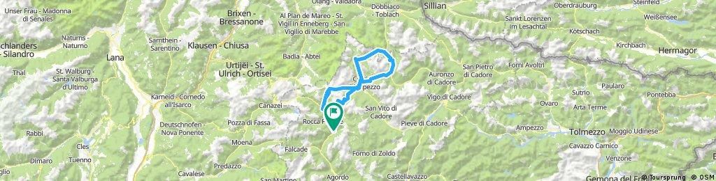 Alleghe-Caprile-Passo Giau-Cortina d'Ampezo-Passo Tre Crocci-Lago Misurina-Carbonin-Cortina d'Ampezo-Passo Falzarego-Caprile-Alleghe