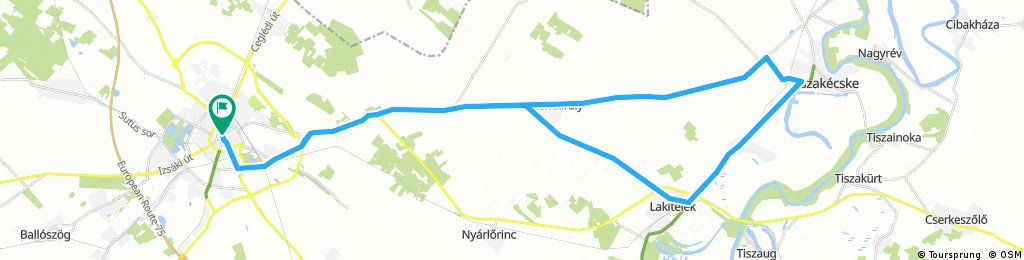 Kecskemét - Szentkirály - Tiszakécske - Lakitelek - Kecskemét