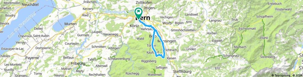 Bern- Belp- um Belpberg herum- Bern