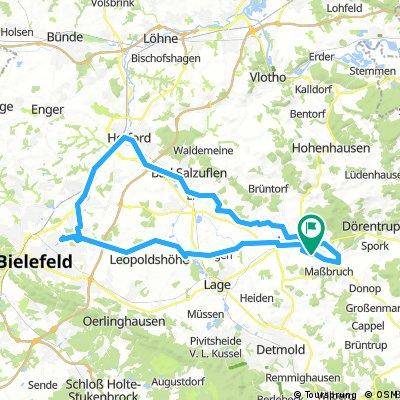 Rennrad nach Bielefeld und Herford sowie durch Bad Salzuflen