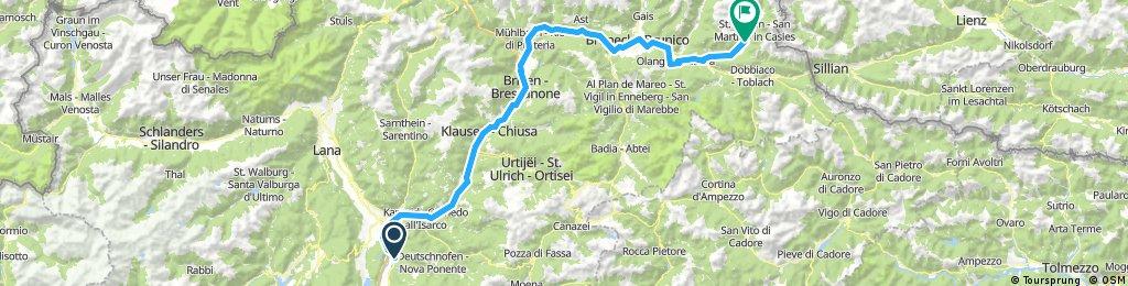 Laives - BRIXEN - Monguelfo - Val CASIES