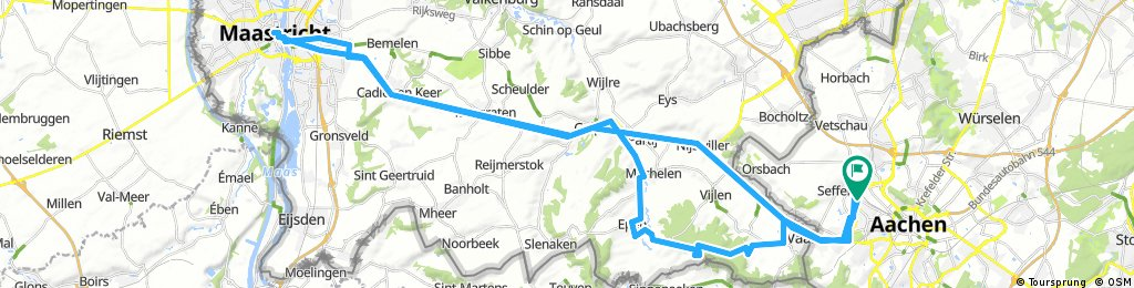 Long bike tour through Aachen