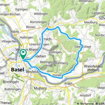 Basel-Brombach-Ottwangen-Herten-Basel