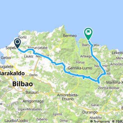 Urduliz-Aulestia-Nabarniz-Elantxobe 66km