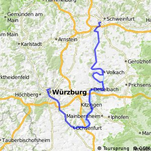 Cycling routes and bike maps in and around Wurzburg Bikemap Your